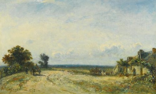 la campagne nivernaise by johan barthold jongkind