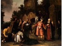 der prophet elisa weist naamans gaben zurück by abraham van dyck