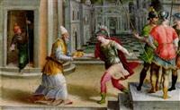 saint lawrence and the roman prefect (?) by andrea di bartolo