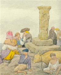 figuras alrededor de la columna by carlos sobrino buhigas