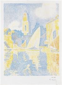 saint-tropez--le port by paul signac