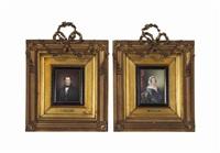 portrait plaques (pair) by john haslem
