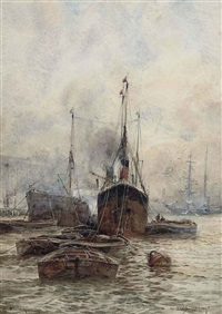 off woolwich, london by frederick william scarborough