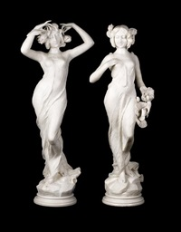 nymphs (pair) by a. batacchi