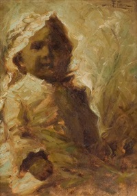 untitled (child with bonnet) by fidelio ponce de león