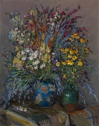 still life with flowers by nicolas glouchenko