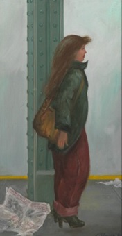 1980 news (girl in subway) by clyde singer