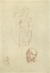 figura in piedi e teste (study) by andrea appiani
