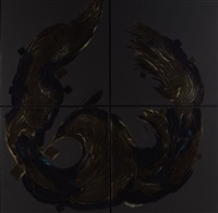 untitled (from the phoenix series)(polyptych) by sedaghat jabbari