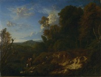 arkadische landschaft by cornelis huysmans