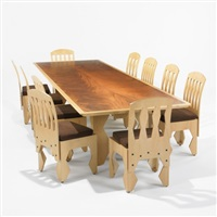 dining table and chairs (set of 11) by laurence booth