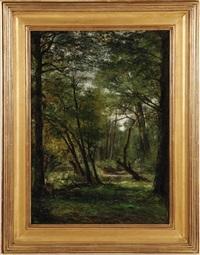 creek in the woods by george hetzel