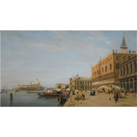 view of the piazzetta and the doges palace venice by jean baptiste van moer