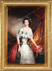 portrait de la jeune impératrice elisabeth d'autriche, à l'époque de son mariage by austrian school (19)