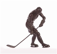 ice hockey player by c. sabouret