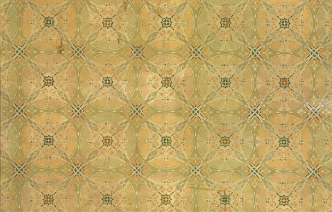 a stenciled ceiling panel from the chicago stock exchange collab wlouis sullivan by dankmar adler
