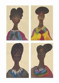 sans titre (4 works) by chris ofili