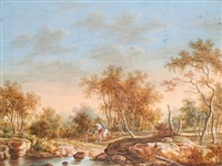 bandits shooting at travellers (+ 3 others; 4 works) by christoph ludwig agricola