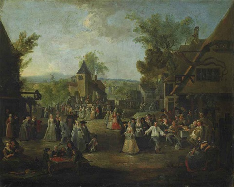 a town kermesse by egbert van heemskerck the elder