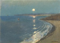 st. ives moonlight by julius olsson
