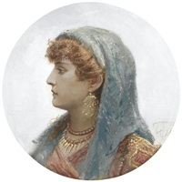 portrait of an italian beauty by vasili fedorovich (george wilhelm) timm