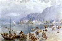 a swiss lake scene by harold joseph swanwick