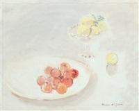 nature morte aux pommes et citrons by hassan el glaoui