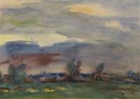 summer landscape, 197(?) by nicolas gluschenko