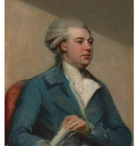 portrait of a gentleman (frederick north?) by john russell