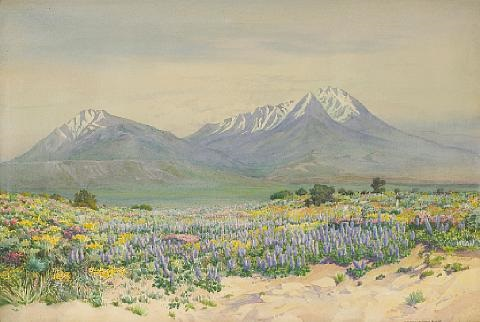 spanish peaks at midday by george elbert burr