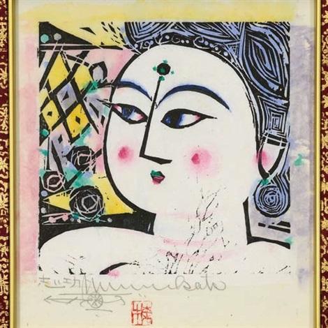 rose goddess by shiko munakata