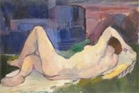 reclining nude by aurél emöd