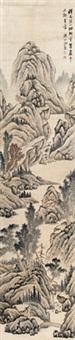 溪山烟树图 by tang yifen
