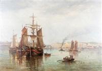 scène portuaire by louis fréret
