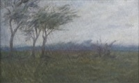 wooded landscape by casimir (count) markievicz