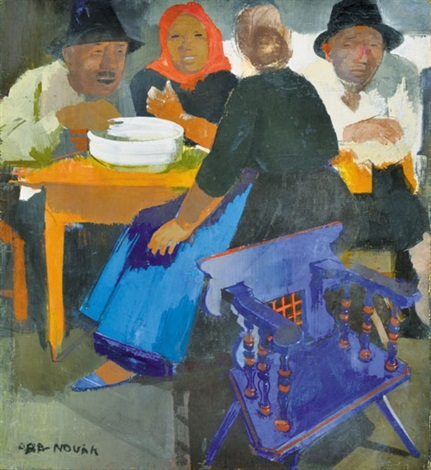 dinner at the market by vilmos aba novák