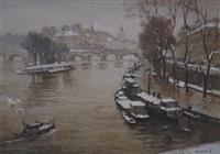 vista de ciudad con canal by valery sekret