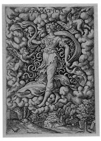 die sieben freien künste in nielloartigen darstellungen (set of 7) by virgil solis