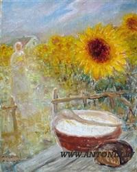 sunflower garden by augustus annus