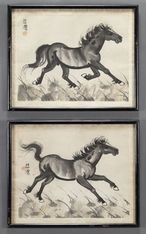 horses 2 works by xu beihong