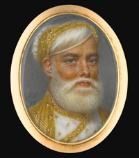 portrait of muhammad ali khan, nawab of arcot and prince of the carnatic (1718-1795) by john smart the elder