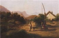udvarlás (courting) by ferenc (franz) markó
