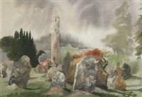 glendalough churchyard by susan mary webb