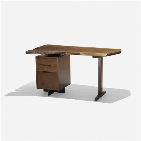 single-pedestal desk by george nakashima