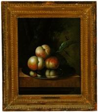stillleben mit äpfeln auf einem zinnteller by johannes christianus roedig