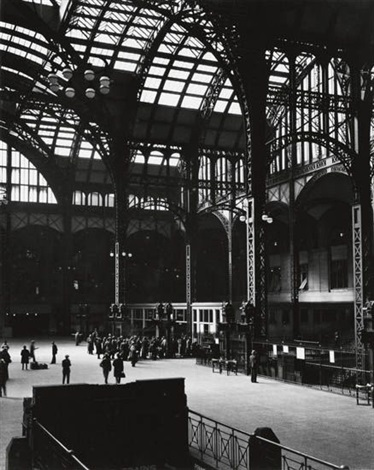pennsylvania station interior new york city by berenice abbott