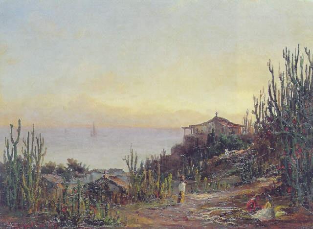 kystparti caribien by fritz siegfried george melbye