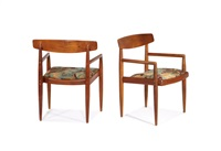 low-back chairs (2 works) by sam maloof