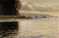 evening light on burrard inlet by clayton anderson