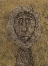 cabeza en gris (head in gray) by rufino tamayo
